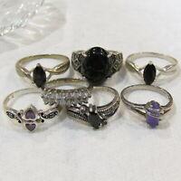 Vintage Elizabeth Taylor Radiance Genuine Cz Ring Size 7
