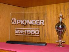 PIONEER SX-1980 ETCHED GLASS SIGN W/BASE