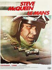 Steve McQueen Le Mans 1971 Stretched Art Canvas Movie Poster Film Print Car race