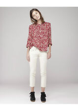 "ISABEL MARANT ETOILE ""Stacey"" Red Cotton Voile Blouse SZ 38 Floral Top Shirt"