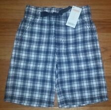 NEW Gymboree Pull On Blue & White Plaid Shorts  Boys Size 5 NWT