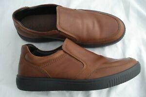 Mens Tan Leather ~ HOTTER ~ Smart Casual Slip on Shoes UK 9.5 STD EU 44