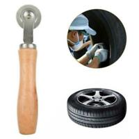 Car Wooden Metal Handle Bearing Roller Tire Repair Tube Patch Tyre Tool Kit AA