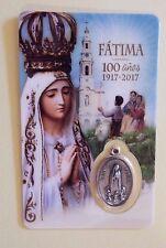 Nuestra Señora de Fátima, Estampita de Consagración con Medalla, De Fátima,