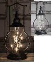 Primitive/Farmhouse/Cottage Mason Angel Tears Steeple Lantern w/ LED Lights