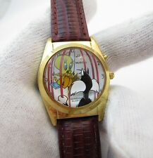 """SYLVESTER & TWEETY,Looney Tunes,""""3D DIAL""""RARE! ,w/Music CHARACTER WATCH,1377"""
