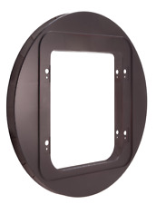 SureFlap Cat Flap Mounting Adaptor BROWN - Suitable For Glass Doors, Walls etc.