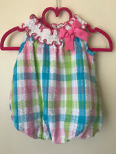 Rare Editions Bow Bubble Romper 3-6 Months Baby Girl Clothes