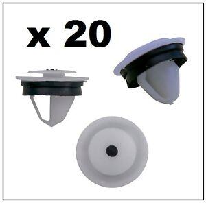 20 x SLIDING DOOR TRIM RAIL FASTENER CLIP for VOLKSWAGEN CADDY & TRANSPORTER T5