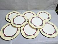 Vintage USA  Set of 8 Lenox Southern Gardens Gold Trim Dinner Plate 10.5'' W