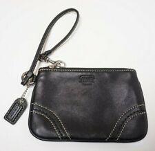 Coach Black Leather Wristlet Small Wallet