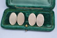 Vintage 9ct Gold Art Deco cufflinks with a Diamond cut design 5.07g #B531