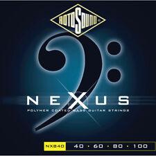 Rotosound NXB40 Nexus Black Polymer Coated 4-String Bass strings 40-100