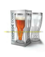 IN BOX FRED HOPSIDE DOWN DOUBLE WALL COOLER BEER GLASS - DRINKING FUN x1 350ML