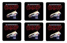SLEEPAWAY CAMP COASTERS 1/4 BAR & BEER SET OF 6 RETRO MOVIE
