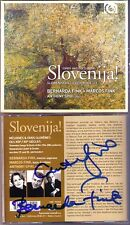 Bernarda FINK, Anthony SPIRI Signed SLOVENIJA Slovenian Songs CD Gerzinic Marcos