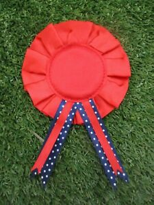 Red Rosettes, 1 Tier Blank Awards with Safety Pin Fastening, Multi Buy