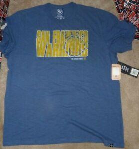 NEW 47 Brand San Francisco Warriors (Golden St) T Shirt Men Throwback 2XL XXL