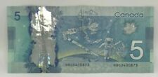 Canadian 2013 $5 M.Carney Changeover Note Serial # HBG0400873