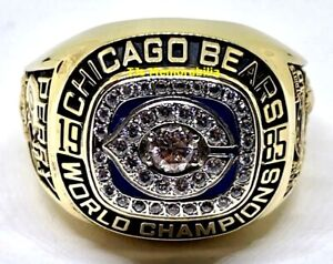 1985 CHICAGO BEARS SUPER BOWL XX CHAMPIONS CHAMPIONSHIP RING & PRES BOX JOSTENS