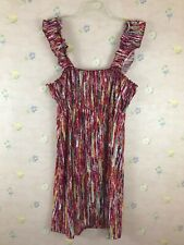 Just My Size 1X (16W) Plus Size Multi Color Dress Sleeveless