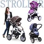 Purple Coffee Blue Newborn Baby Stroller 3 Wheel Pram Aluminium Portable Folding