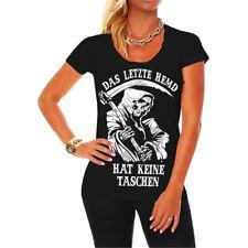 Las mujeres t-shirt la última camisa no tiene bolsillos Gothic Black Emo Punk Fashion
