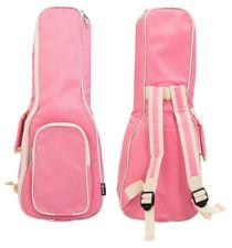 "Solid Padded Concert Ukulele Uke Bag Soft Case 24"" Inches Dusty Pink Girls Kids"