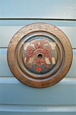 ANTIQUE PULLEY FROM DAWLISH WAKE WITH PAINTED CREST SPEKE CHAPEL RED GRIFFINS