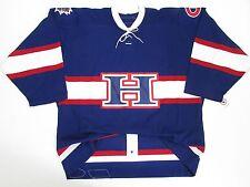 HAMILTON BULLDOGS AUTHENTIC AHL BLUE PRO REEBOK 6100 HOCKEY JERSEY SIZE 54