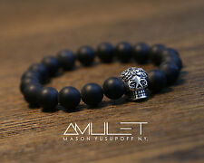 AMULET genuine gemstone and 925 sterling silver bracelet. CALAVERA ARGENTUM