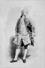 PORTRAIT d'un GENTILHOMME sous LOUIS XV (d'après MEISSONIER) - Gravure 19e s.