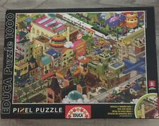 "Educa Puzzle Passion ""A Day in the City"" 1000 Piece Pixel Puzzle. Excellent Cond"