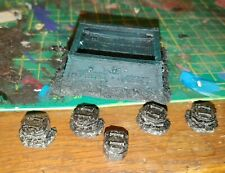 Games Workshop FW Forgeworld EPIC 40K Pill Boxes X5 & Defense Bunker Outpost OOP