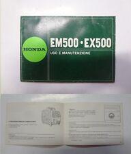 Manuale manual libretto uso manutenzione generatore generator HONDA EM 5500 EX
