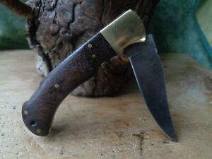 Couteau de Maquignon Lame Damas 128 Couches Manche Bois Fabrication Artisanale