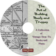 Art of Building a Roof Truss {20 Vintage How-to Plan Books} on DVD