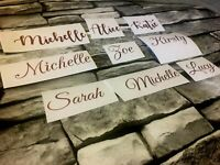 """ROSE GOLD Any Name/Word Vinyl Sticker Decal 3 Sizes 1""""2""""3"""" Personalised Wedding"""