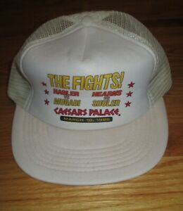 The Fights! 1986 MARVELOUS MARVIN HAGLER vs MUGABI & THOMAS HEARNS Caesars Cap