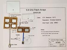 5.8 GHz Quad Patch Antenna by WA5VJB