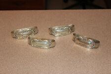 Set of 4 Vintage International Wild Rose Sterling Silver Napkin Rings 3.71 ozs.