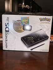 CIB Nintendo DS lite Black Pokemon Special Edition Console Dialga & Palkia
