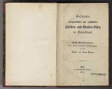 [H. Traut]: Geschichte morganatischer Fürsten- und Grafen-Ehen/Deutschland, 1874