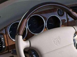 Jaguar XK8 or XKR 1996-2006   Chrome Gauge Trim Dial Rings Polished Alloy  x4