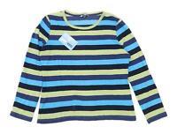 M&Co Womens Size L Striped Cotton Multi-Coloured Long Sleeve T-Shirt (Regular)
