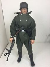 1/6 21ST CENTURY GERMAN WERMACHT MOTORCYCLE DRIVER MP-40 P-38 DRAGON BBI DID WW2