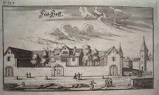 Zürich Zeughaus Feld-Hof  Schweiz Bluntschli  echter alter Kupferstich 1742