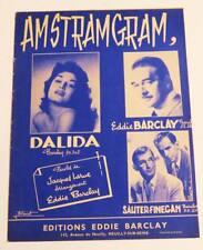 Partition vintage sheet music DALIDA : Amstramgram * 50's Eddie BARCLAY