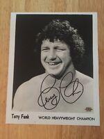 TERRY FUNK Signed Autograph Glossy 8x10 Photo WWF WCW ECW WWE NWA AWA HOF w/ COA
