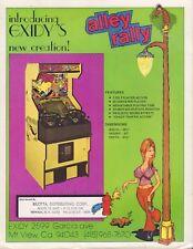 Alley Rally Exidy Circa 1970's Arcade Machine Advertisement 092717DBE